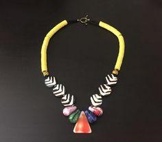 Afrocentric Jewelry - Mali Wedding & Vinyl Bead Necklace #SBAfroJewelz
