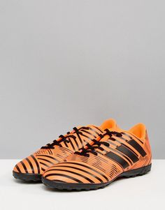 Adidas Soccer Nemeziz 17.4 astro turf sneakers in orange s76979 e636ca98b44