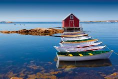 Punts in Joe Batt's Arm, Fogo Island by Newfoundland and Labrador Tourism, via Flickr