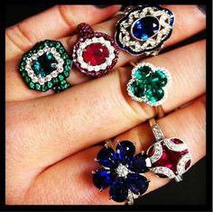 The sapphire flower ring #hydeparkjewelers