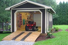 A 8\' x 12\' Garden & Storage shed with an 8\' overhang for firewood ...