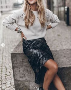 THE RAILS FALL 2020 COLLECTION Midi Skirt, Sequin Skirt, Easy Day, Crepe Fabric, Leather Skirt, Latest Trends, Tie Dye, Street Style, Pullover