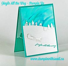 Stampin Up Jingle All the Way Water coloured by Sandi @ www.stampinwithsandi.com