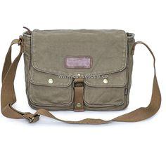 Army Style Canvas Messenger Shoulder Bag (2)