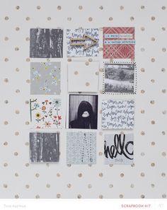 Warm Hoodie *MKO* by lifelovepaper - grid design Mixed Media Scrapbooking, Digital Scrapbooking Layouts, Scrapbook Page Layouts, Scrapbook Pages, Studio Calico, Project Life Planner, Art Journal Inspiration, Life Inspiration, Mini Scrapbook Albums