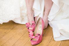 Pink Valentino peep toe shoes | Destination Wedding France