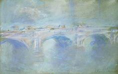 Claude Monet, Waterloo Bridge, c. 1901. pastel drawing