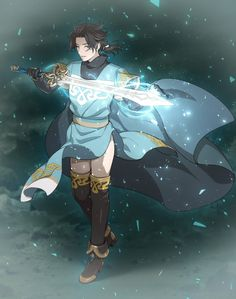 Runelord and Scholar Fantasy Character Design, Character Concept, Character Art, Got Anime, Anime Guys, D D Characters, Fantasy Characters, Octopus Travel, Octopath Traveler
