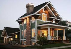 lots of natural light, color and size of the house too! cute.