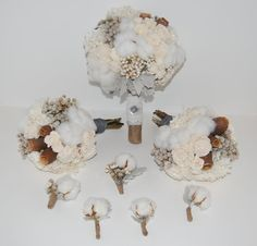 Preserved Wedding Bouquets and Boutonnieres  by MaisonDeLaCroix, $185.00