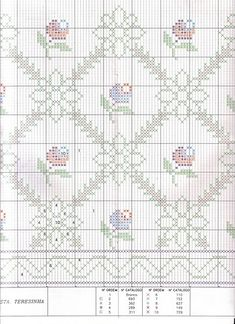 Cross Stitch Borders, Cross Stitch Rose, Cross Stitch Flowers, Cross Stitch Charts, Cross Stitch Designs, Cross Stitching, Cross Stitch Patterns, Embroidery Sampler, Cross Stitch Embroidery
