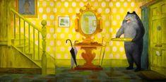 "Twentieth Century British Art by Barbara Jones: ""Out in the Hall, Mural Art, Murals, English Artists, Pooh Bear, Victoria And Albert Museum, Designing Women, The Twenties, Illustrators, Modern Art"