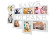 Ramka multirama na zdjęcia Miłość Radość Rodzina 9 zdjęć