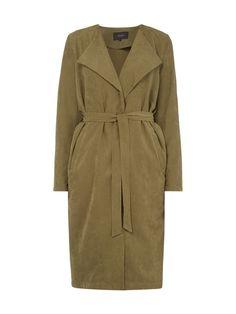Mantel mit Spatenkragen Grün - 1