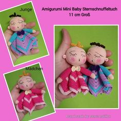 Amigurumi Mini Baby Sternschnuffeltuch 11 cm Groß