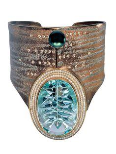 Atelier Zobel bracelet, aquamarine, pearls and diamonds