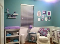 Purple Rooms Teal Turquoise Color Blue Green Aqua Nursery