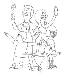 The Bobs Burger Coloring Book Lets You Make Puns