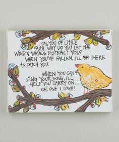 Look at this #zulilyfind! Little Faith Bird Wrapped Canvas by Glory Haus #zulilyfinds