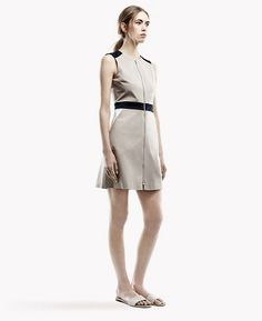 Assenzi Dress: With a fully zipped front, color-blocked articulations and a scoop neckline, this dress is utilitarian chic.