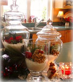Christmas Kitchen Island by dining delight, via Flickr - this would nice as a center piece as well