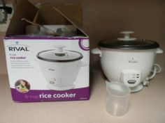 RICE COOKER. 6 CUP, RIVAL.NEW
