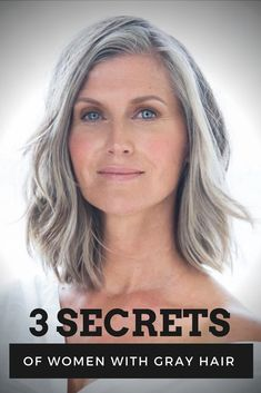 3 Secrets of Women With Gray Hair - Big Southern Hair - Hair Grey Hair Old, Grey Hair Over 50, Grey Hair Care, Long Gray Hair, Silver Grey Hair, Brown Blonde Hair, Curly Gray Hair, Gray Hair Women, Shampoo For Grey Hair