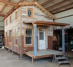 "Helen's Heaven - Pure Salvage Living. Salvaging from old buildings and rebuilding with it, new ""tiny houses."" So beautiful!"