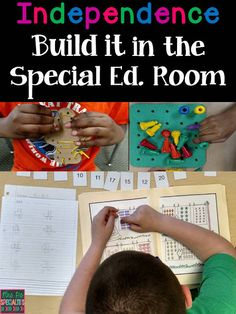 Ideas on how to begin working on independent ACADEMIC skills and how to teach students how to work for longer periods of time. www.mrspspecialties.com