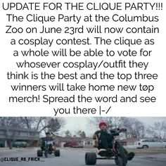 THIS IS FOR THE CLIQUE PARTY HAPPENING IN OHIO. if you need any more details pls don't hesitate to message me or check out @\clique_as_frick on instagram :)) - - twenty one pilots // skeleton clique // clique party // tour de columbus