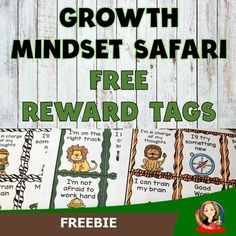 Growth Mindset Reward Tags are a great classroom management student incentive that teaches students to focus on their goals and develop an I can attitude. Strengthen social-emotional learning by showing that hard work and perseverance will pay off. They are great for younger and older elementary stu... Student Incentives, Growth Mindset Classroom, Safari Theme, Social Emotional Learning, Classroom Themes, Toolbox, Student Learning, Classroom Management, Hard Work