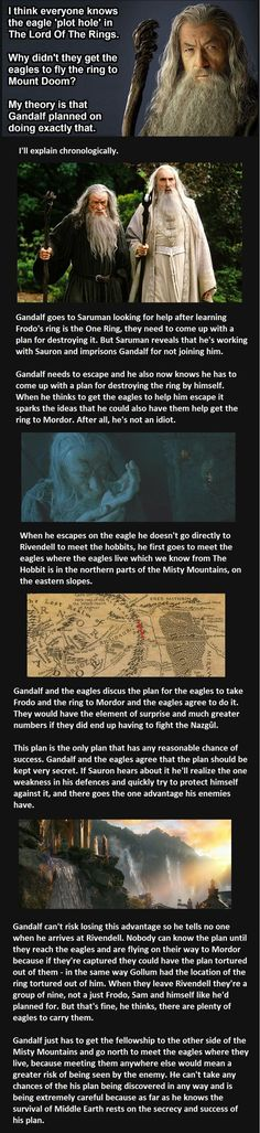 "The ""eagle plot hole"" in Lord of the Rings might not be a plot hole at all. Click to read one man's fan theory. #lotr #fandom"