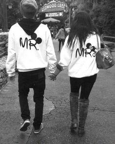 Disney Mr & Mrs for our Disney visit on our honeymoon :)
