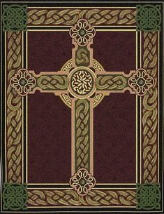 detail, Celtic cross, rug.