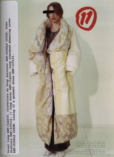 """halloween-in-january: """" Maison Martin Margiela AW down duvet with detachable sleeves, covered with vintage sheeting, worn open or fastened together with a thin leather string. Duvet Day, Blanket Coat, Fashion Details, Fashion Design, Fashion Images, Deconstruction, Fashion History, Fashion Beauty, Fashion Mode"""