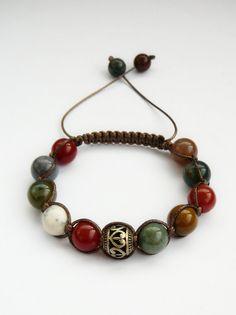 Shamballa Bracelet Natural Stone shamballa Jewelry by MariZJewelry