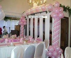 quinceanera balloon decor | Quinceanera Decorations and Sweet 16 balloon event decorations