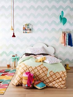 The 10 best places to buy Australian kids' bed linen online - The Interiors Addict Kids Bed Linen, The Design Files, Little Girl Rooms, Kid Spaces, Kid Beds, Girls Bedroom, Bedroom Ideas, Childs Bedroom, Bedroom Themes