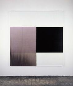 Exposed Painting Vine Black, Red Violet (2001) - Callum Innes