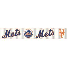 Boys Will Be Boys II New York Mets Wallpaper Border, Blue