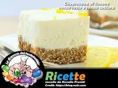Cheesecake al limone senza latte e senza cottura