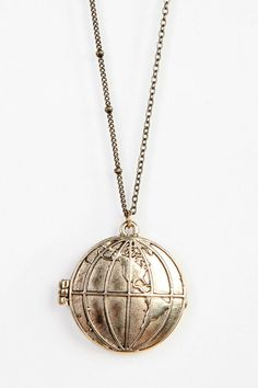 Around The World Locket Necklace