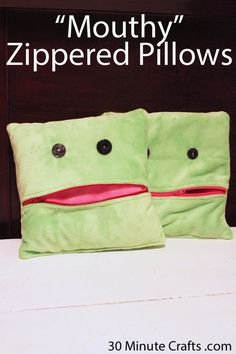 Mouthy Zippered Pillow