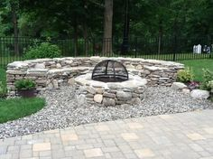 stone fire pit - Google Search