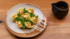 Tortelli di Zucca Pumpkin Ravioli, Roast Pumpkin, Amaretti Biscuits, Masterchef Recipes, Brown Butter Sauce, Pepper Pasta, Almond Recipes, Tray Bakes, Pasta Dishes