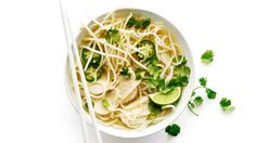 Quick Chicken Pho | Comfort food is a bowl of steaming hot soup, from chicken pho to rice porridge