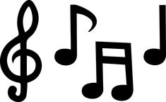 music notes to use as a template