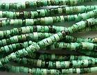 GREEN HOWLITE HEISHI BEADS