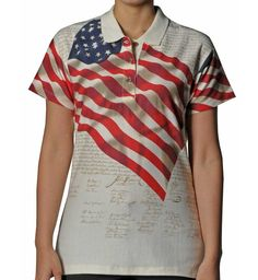 polo american flag shirt