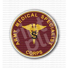 Army Medical Specialist Navy Corps Sticker